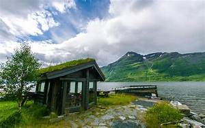 HD Norway River House Nature Background Images Wallpaper ...