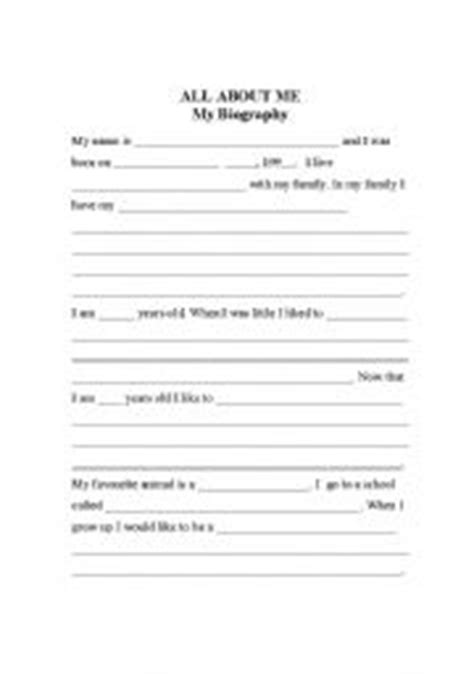 Sle Biography Template For Students by Best Photos Of Elementary Autobiography Exles