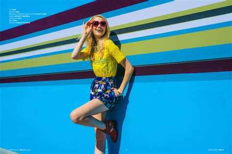 Pop Of Color  Fashion Editorial In Bello Mag