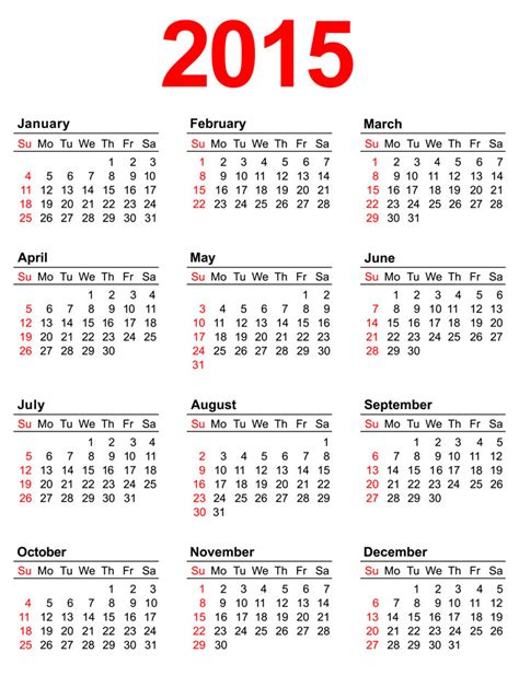 2015 Printable Calendars 7 Best Images Of Annual Calendar 2015 Printable 2015