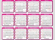 Base Calendário 2019 Rosa Imagem Legal