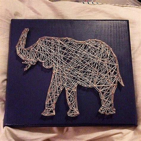 elephant string art sign  stringsbysamantha  etsy