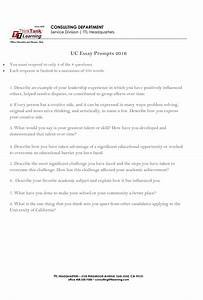 Uc Application Essay Prompts Personal Insight Questions