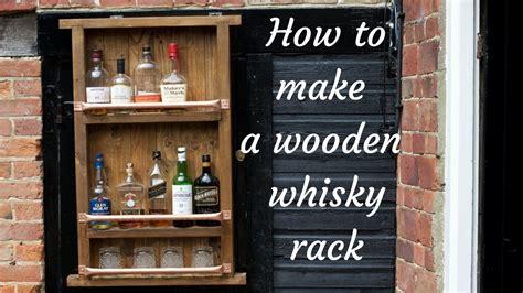wooden bottle wine whiskey rack youtube