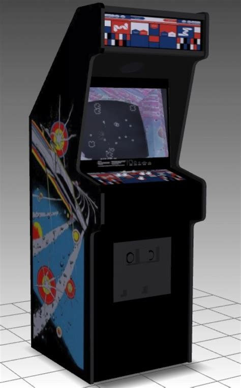 Asteroids Upright Arcade Machine   DownloadFree3D.com
