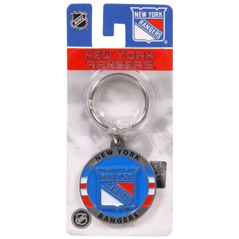 the hillman group nhl new york rangers key chain 3 pack 711431 the home depot