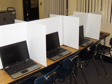 cardboard table dividers classroom project