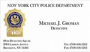 Code 3 products foil business cards for Nypd business cards
