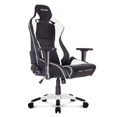 siege de bureau gaming akracing prox fauteuil gamer noir blanc siège gamer