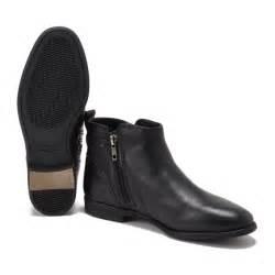 ugg womens demi boot ugg 39 s demi leather flat ankle boots black womens footwear thehut com