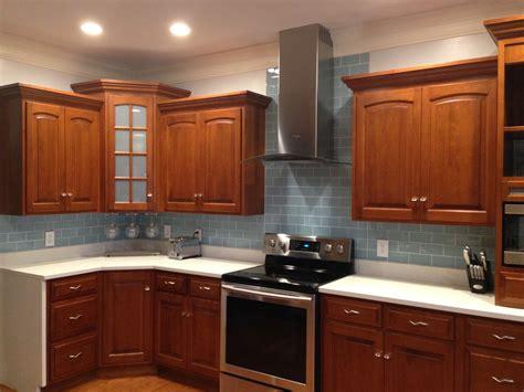 Kitchen Backsplash Cabinets by Vapor Glass Subway Tile Kitchen Backsplash With Wood
