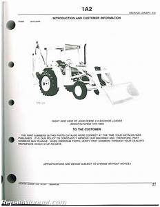 John Deere 410 Loader Backhoe Parts Manual   Js