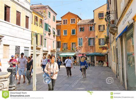 people   street  venice italy editorial