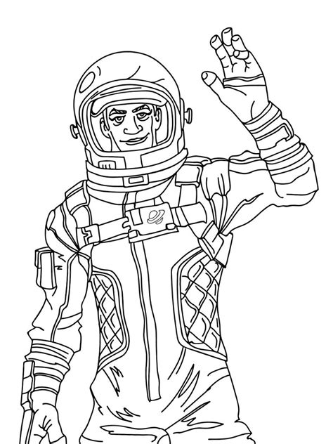 Coloring Skin by Fortnite Skin Coloring Pages 5 Drawing Free