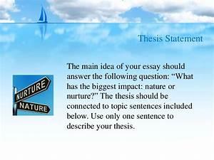 nature vs nurture essay topics
