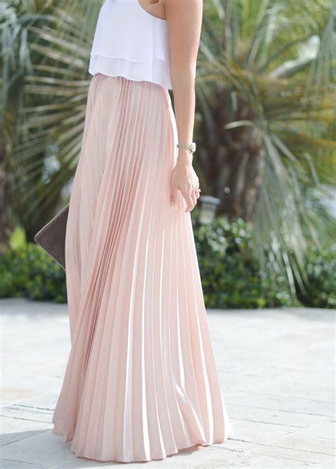 pleated skirt  spring maxi skirt crop top wedding