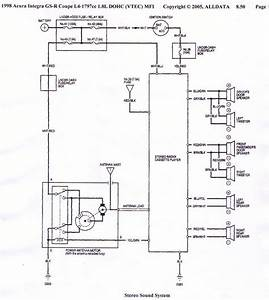 Acura Integra 98 Car Audio Diagram - Honda-tech