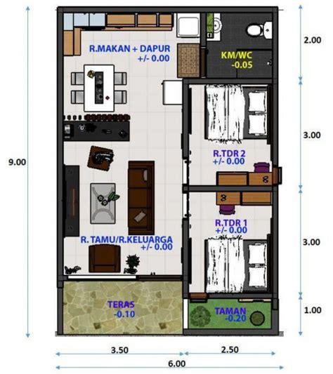 bentuk denah rumah sederhana ukuran  terbaru