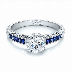 diamond and blue sapphire engagement ring 100389 With diamond and sapphire wedding rings