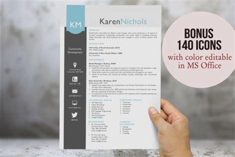 eye catching resume template downloads eye catching word resume design resume templates on creative market
