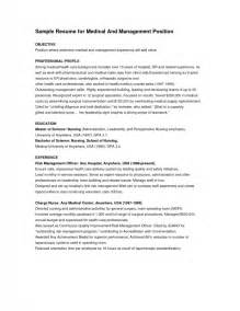 exles of resumes for management sles of
