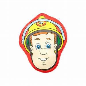 Coussin Tout Doux : coussin sam le pompier en forme de t te pour chambre enfant ~ Teatrodelosmanantiales.com Idées de Décoration