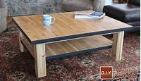 build a coffee table How to Make a Wood Coffee Table with Steel Accents