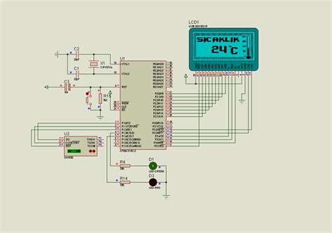Ats Thermometer Circuit Lcd Display