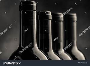 Red Wine Bottles Black White Photo Stock Photo 490621798 ...