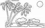 Palm Coloring Tree Colouring Pages Trees Sunset Drawing Coconut Adults Sabal Ocean Palmtree Template Clipart Getdrawings Preschool Dora Popular Coloringhome sketch template