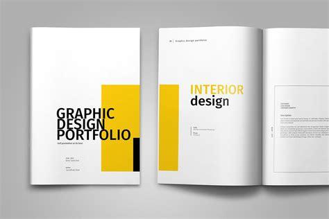 14425 graphic design portfolio exles graphic design portfolio template by tu design bundles