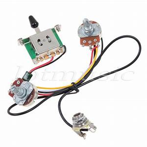 Two Pickup Guitar Wiring Harness 3 Way Blade Switch 500k
