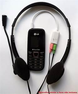 Cabo Adaptador P3 P Fone E Microfone Headset Celular Pc