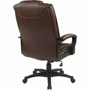 Office, Star, Ex5162, Deluxe, High, Back, Executive, Leather, Chair, -, Leather, Burgundy, Seat