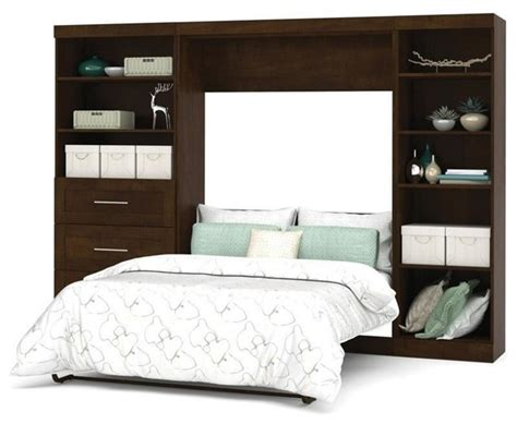 bestar pur wall bed kit chocolate s and right side