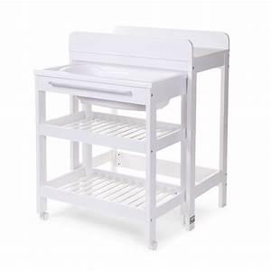 Meuble à Langer : table langer meuble de bain table langer tub bucket et baignoire childhome ~ Teatrodelosmanantiales.com Idées de Décoration