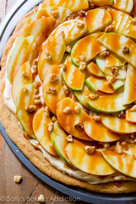 Apple Dessert Pizza With Caramel Cream Cheese Frosting