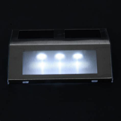 outdoor garden yard led solar powered path stair light