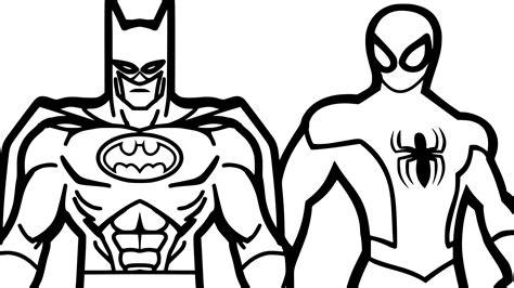 Coloriage Spiderman Et Batman Imprimer Sur Coloriages Info