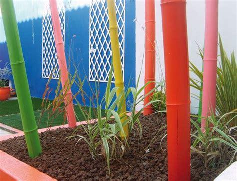 cannes bambous colorees jardin pinterest deco jardin