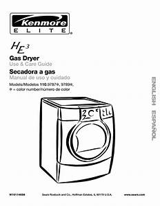 Kenmore Elite He3 110 9787 User Manual