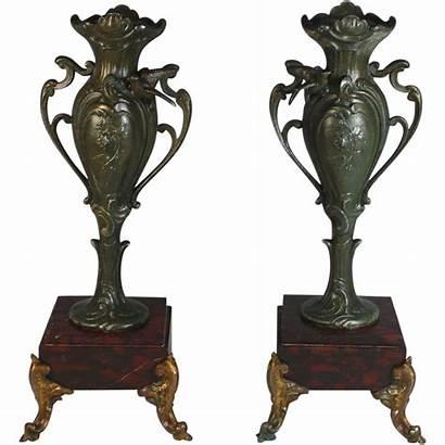 Antique Marble French Pair Urns Rubylane Garnitures
