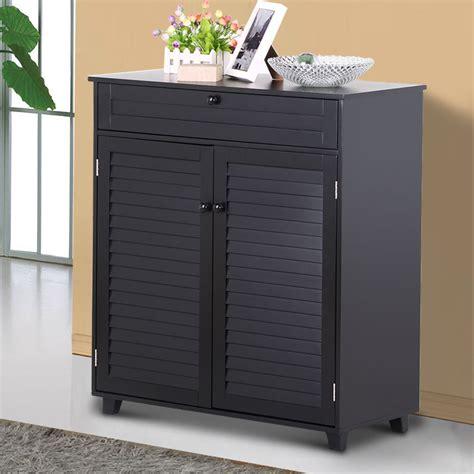 2 door cabinet with shelves 3 shelves shoe rack storage cabinet 1 drawer 2 doors
