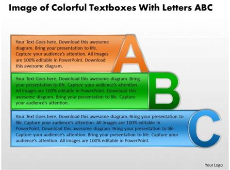business powerpoint templates image  colorful textboxes
