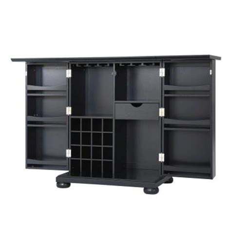 home depot bar cabinets crosley alexandria expandable bar cabinet in black