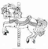 Coloring Horse Pages Carousel Carriage Miniature Getcolorings Getdrawings Printable Pony Colorings sketch template