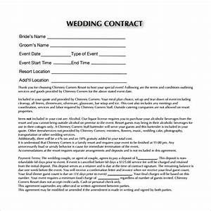 20 wedding contract templates to download for free for Wedding photo contract template