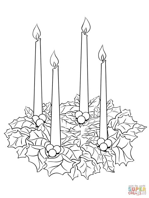 advent wreath coloring page  printable coloring pages