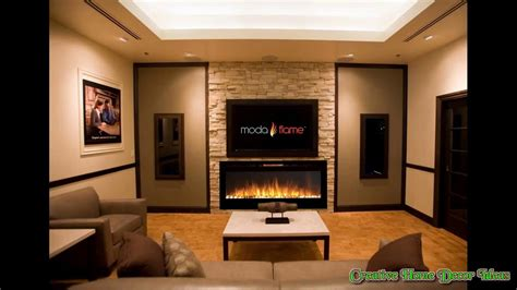 Electrical Home Design Ideas by Wall Hanging Electric Fireplace Ideas