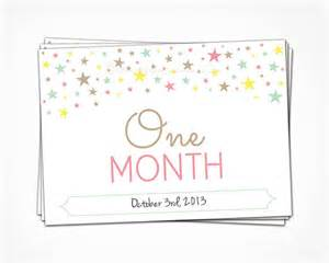 Baby Girl One Month Signs Printable